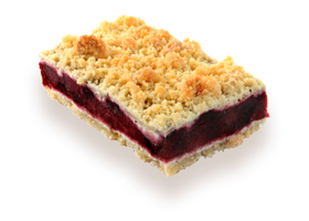 Parts de crumble aux fruits rouges