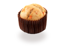 Carrot and cumin mini-muffin