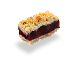 Mini Parts de crumble aux fruits rouges